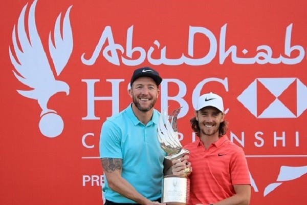 2018 Abu Dhabi HSBC Golf Championship Winner Tommy Fleetwood