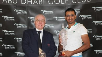 Photo of Varkey Crowned 2012 Abu Dhabi Men's Open Champion on a windy National Course