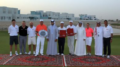 Photo of Casey and Bjorn crowned champions at the inaugural Bahrain Invitational at the Royal Golf Club