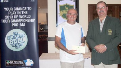 Photo of Chris De Beaufort wins 2013 The Luckiest Ball on Earth at Al Ghazal Golf Club