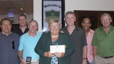 Photo of Kevin and Kate take honours in Al Ghazal Golf Club October monthly medal