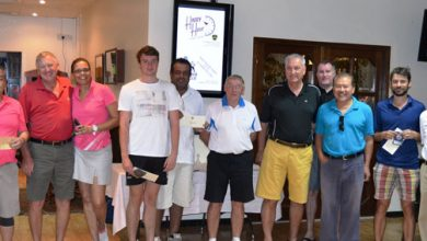 Photo of Blanchard and Gordon claim Al Ghazal Golf Club March Medal