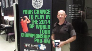 Photo of James's Feel's Good After Luckiest Medal Win at Al Hamra Golf Club