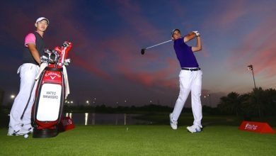 Photo of Rising Golf stars light up night Golf ahead of the Abu Dhabi HSBC Golf Championship