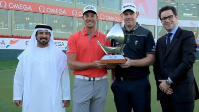 Photo of Gallacher and Stenson win the Omega Dubai Desert Classic Challenge Match