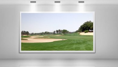 Photo of Under the Spotlight Hole 8 at Abu Dhabi Golf Club