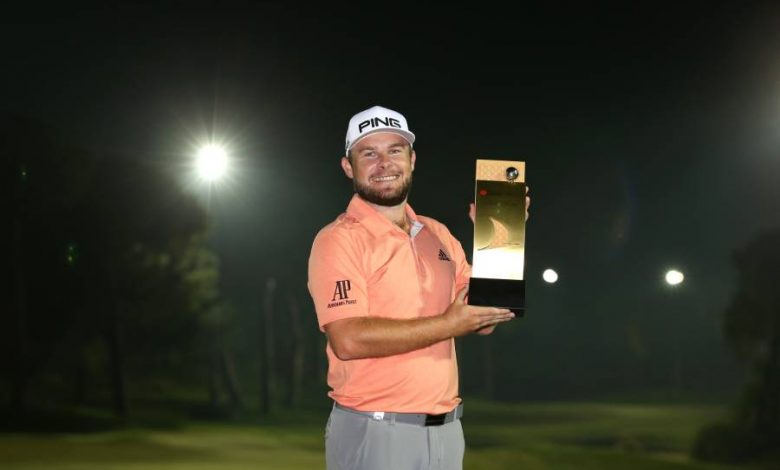 Tyrrell Hatton with the Turkish trophy