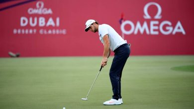 Photo of Thomas Pieters leads in Dubai