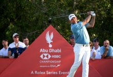 Photo of Lee Westwood shows Abu Dhabi class after 3 rounds